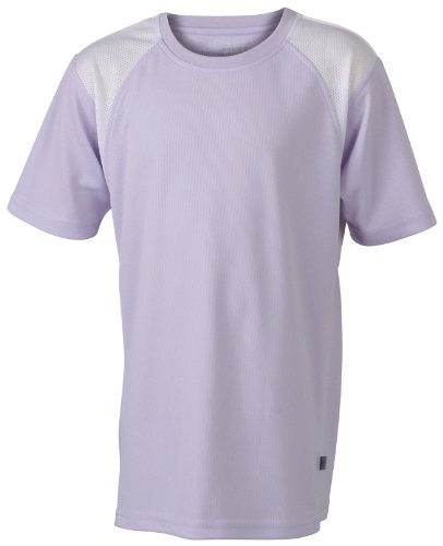 James & Nicholson Herren Lauf T-Shirt Running T violett (lilac/white) Large
