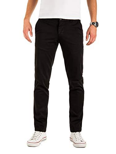 Yazubi Männer Chino Hosen - Modell Malphite by Yzb Jeans - Chinohose Stoff - Schwarze Herren Chinohosen, Schwarz (Black 194008), W33/L38