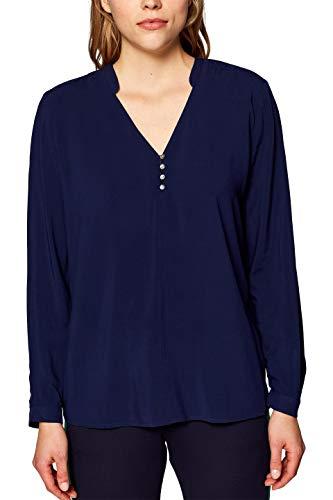 Preisvergleich Produktbild ESPRIT Damen 128EE1F008 Bluse,  Blau (Navy 400),  38
