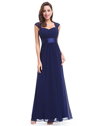 Ever-Pretty Damen Einfach Elegant Abendkleider Brautjungfernkleid 36 Marineblau