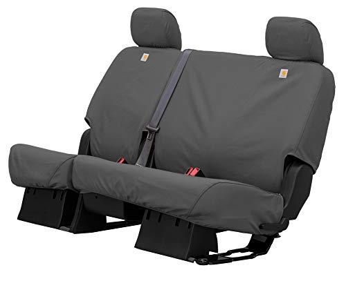 Covercraft Carhartt SeatSaver Custom Seat Covers | SSC7432CAGY | 2nd Row Solid Bench Seat | Fits 2011-18 Ram 1500 / 2019-20 Ram 1500 Classic / 2011-19 Ram 2500/3500, Gravel