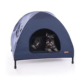 K&H Pet Products Original Pet Cot House - Navy Blue Medium 25 X 32 X 28 Inches