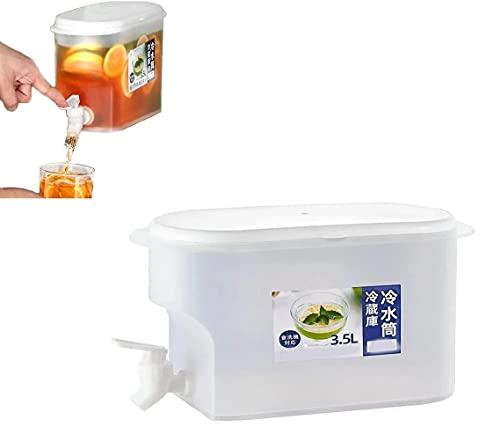 ZMMA Jarra de Agua de 3500 ml con Grifo Jarra de Jugo de limón, Recipiente de Botella de Agua fría, Jarra Resistente al Calor, dispensadores de Bebidas heladas