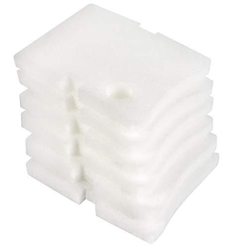 LTWHOME Compatible en Mousse Blanc Excellent Filtre Média Convient pour Hydor Professional Canister Filter 250/350 (Paquet de 6)