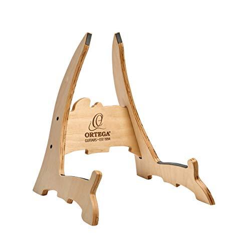 Ortega OWGS-2 - Supporto per chitarra in legno di betulla, verniciato, in confezione regalo