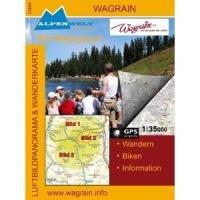 Luftbildpanorama- & topografische Wanderkarte - Wagrain