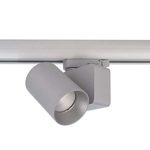 Foco moderno LED 13 W Track Riel trifásico luz tienda vitrina 1180 lm 230 V (4000 K, gris)