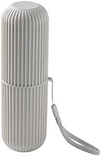 歯ブラシケース 歯磨き粉ケース 歯磨き 携帯用 コップ 歯磨きコップ  シンプル 持ち運び 旅行 収納 トラベル 洗面用具 携帯用歯ブラシケース  (グレー)