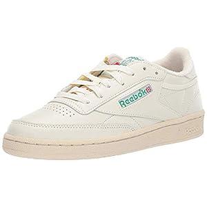 Reebok Women's Club C 85 Sneaker, Chalk/Glen Green/PAPERWHI, 7.5