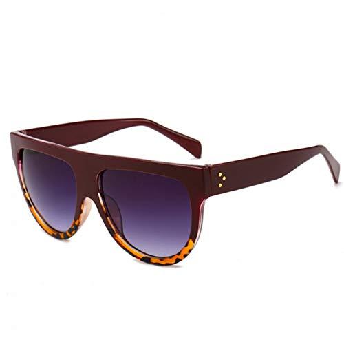 Moda Plaza Gafas de sol Mujeres de Lujo Gafas de Sol Grande Negro Sol Gafas Espejo Sombras Mujer blinkers Marca Diseñador Gafas Para Damas