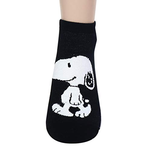 The Peanuts Snoopy Women and teen girls Licensed Socks Collection Socksense (Basic Snoopy_4pairs)