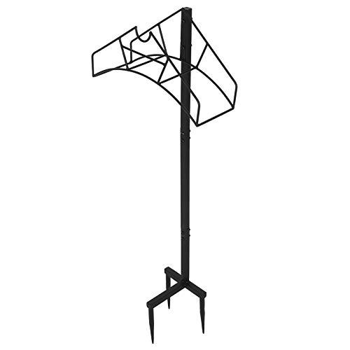 Dioche Gartenschlauchhalterung, Schlauchhalter mit Bodenpfosten, Organizer für Gartenschlauch, abnehmbar, 39 x 109,5 x 17 cm