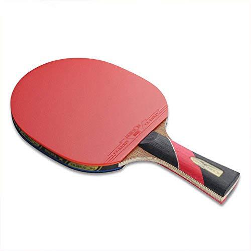 Seis estrellas tiro Mesa de ping pong Individual 5 capas de madera del ala de pollo Plus 2 capas de carbono de doble cara de seis estrellas anti-adhesivo Tabla raqueta de tenis raquetas ping pong?FEOP