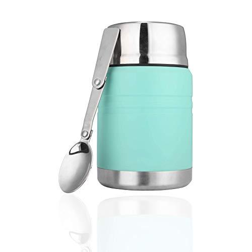 Vakuumisolierte Lebensmittelbehälter, BPA-frei, Edelstahl, faltbar, Grün,...