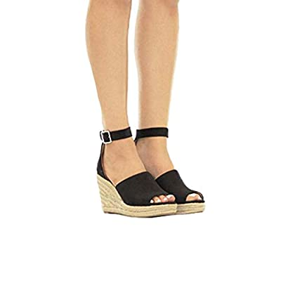 Womens Wedges Sandals, Zyqzw Lady Straw Cool Shoes Fashion Solid Buckle Strap Sandal Fish Mouth Platform Casual Slippers