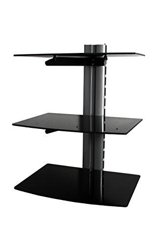 Wandplank voor hemel, freeview, soarsat, gratis tv-ontvangers muur monteerbaar plank voor tv, gameconsole (3 Tier)