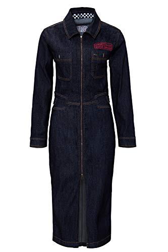 Queen Kerosin Damen Workwear Kleid Mit Stickerei Auf Dem Rücken Motor Queen Service