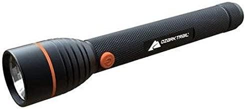 Ozark Trail Focusing Handheld LED Flashlight, Super Bright Powerful 700 Lumens of Light, Durable Aluminum Casing, Large, Black (Model: FT-WZ9700)