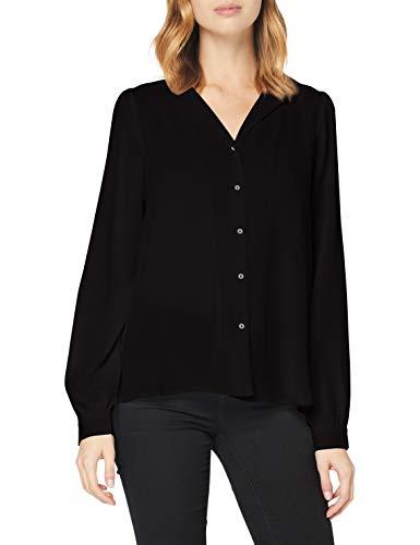 VERO MODA Damen VMGRY LS Shirt GA Color Bluse, Black, L