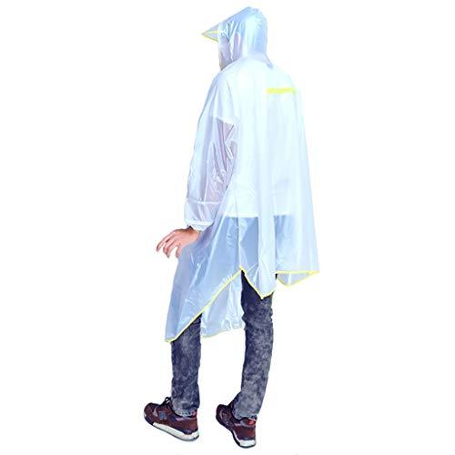 Zz Regenjas Transparante regenjas Wandelen met een hoed regenhoes poncho regenjas outdoor camping tent mat Unisex