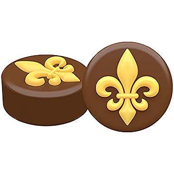 SpinningLeaf Fleur de Lis Oreo Cookie Chocolate Candy Mold