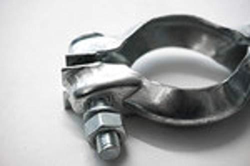 NovaNox German Engineering® Klemmstück Abgasanlage Ø 38-52mm universal Rohr Klemmschelle Auspuff-Schelle in Stahl verzinkt Schellen Rohrschelle Auspuff Klemmschelle Auto Twingo/innen 38-52mm