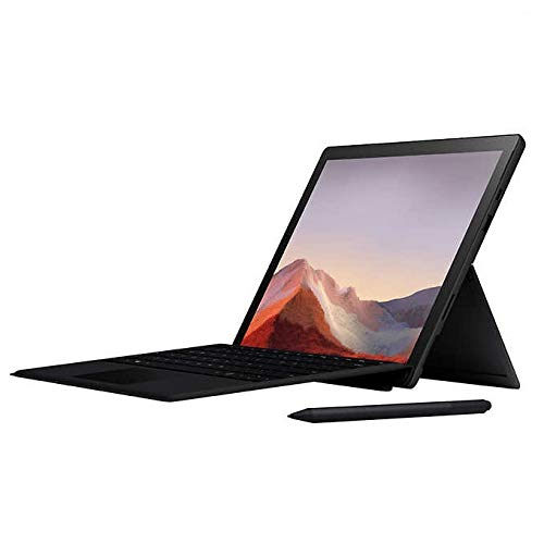 New Microsoft Surface Pro 7 – 12.3' Touch-Screen - 10th Gen Intel Core i7-16GB Memory - 256GB Solid State Drive (Latest Model) – Matte Black with Black Type Cover and Surface Pen
