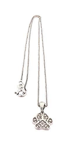 MAGICMOON - Simpaticissima collana da donna in argento 925 rodiato a forma di zampetta di cane arricchita da zirconi bianco brillanti - Mod. VTP10000789