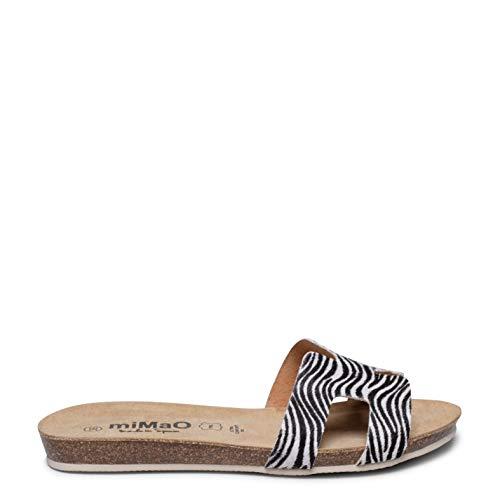 Zapatos miMaO. Zapatos Piel Mujer Hechos EN ESPAÑA. Sandalia Plana Bio Cómoda. Sandalia Chancla Elegante. Plantilla Ultra Confort Bio