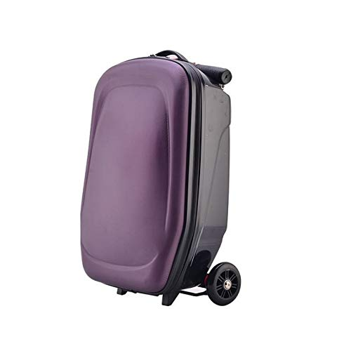 MMAXZ Scooter Suitcase Men Trolley Case Extrusion Business Travel luggage Boarding box Students Backpack Scooter (Color : F)