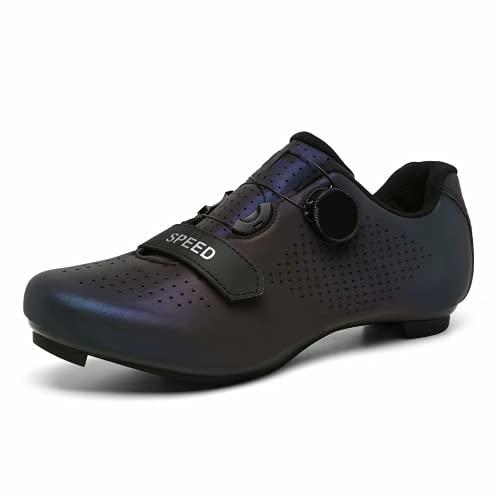 Great Flyor Zapatillas Peloton para hombre y mujer, zapatillas de ciclismo SPD para actividades al aire libre y en interiores, compatibles con tacos Delta Look, color, talla 41 EU