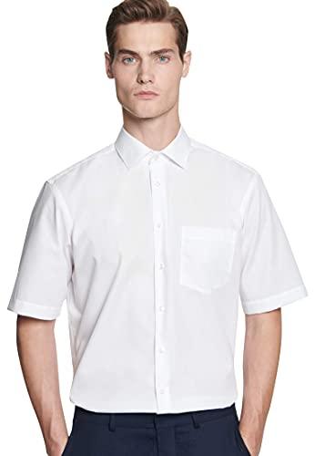 Seidensticker Herren Business und Freizeit Hemd Regular Fit, Weiß (Weiß 1), 44 (Herstellergröße: X-Large)