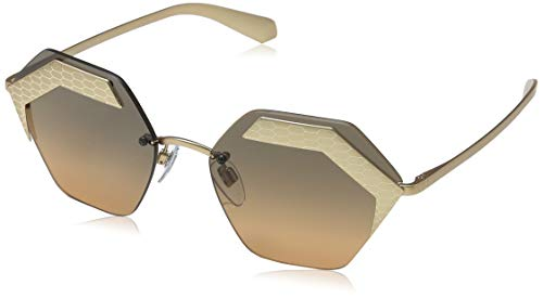 Bulgari 0BV6103 201318 57 Gafas de sol, Dorado (Matte Pink Gold/Pink Gold/Orangegradientlightgrey), Mujer