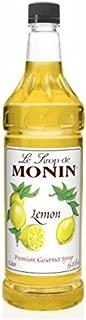 Monin Lemon Syrup, 33.8-Ounce Plastic Bottle (1 liter)