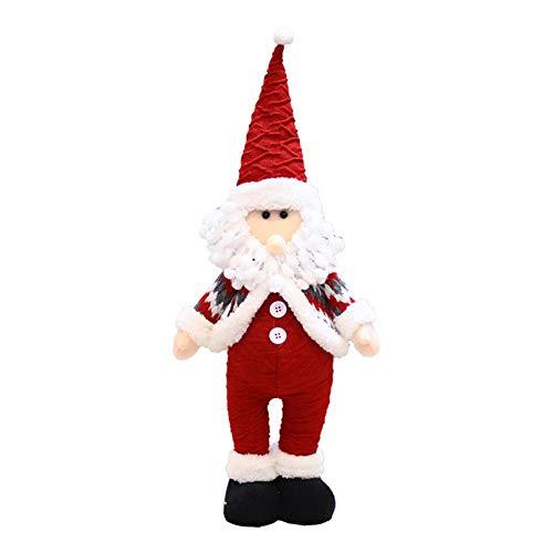 flower205 Weihnachtsmann Santa Plüsch Puppe Doll Weihnachten Plüschtier Weihnachtsbaum Innovative Santa Schneemann Fenster Big Dolls Home Decor Puppe Weihnachtsschmuck