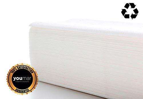 YOUMAR - Toallas Secamanos de papel TISSUE RECICLADO 2 capas