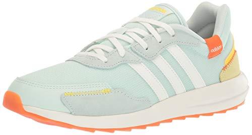 adidas Women's Retrorun Running Shoe, Dash Green/Cloud White/Orange, 5.5 M US
