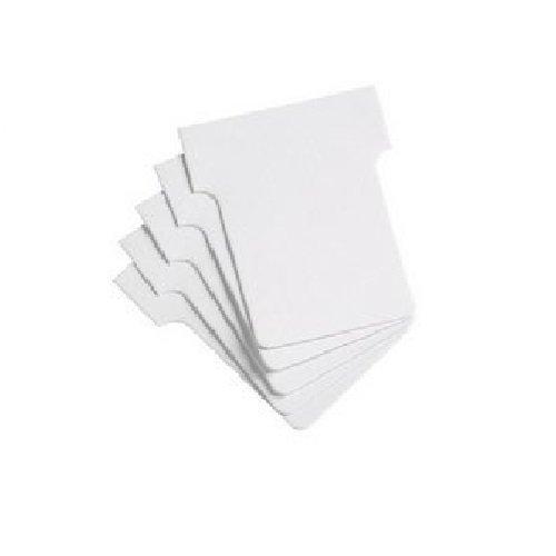 Nobo Kartentafel Zubehör T-Karten, Größe 1.5, 100 Stück, weiß