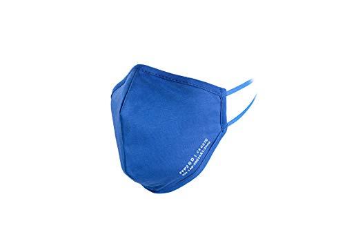 YBUYOO Nano FFP2 R D Maske blau | Premium FFP2 Maske mit spezial Nano Einlage | bis zu 20 x waschbar - wiederverwendbar | CE + ISO zertifiziert | extra atmungsaktiv aus Baumwolle