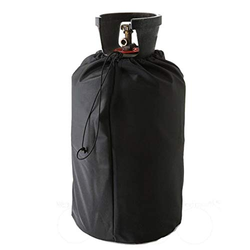 Funda de depósito de propano, funda de protección para bombona de gas de 20 l, con cordones ajustables, tapa de depósito de gas Oxford, anti UV, impermeable, resistente al viento, para jardín exterior