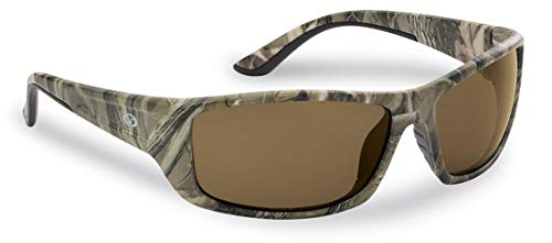 Flying Fisherman Polarized Sunglasses with 100% UVA & UVB Protection for Fishing, Biking, Golf, Hiking, Beach, Driving – BUCHANAN, Camouflage Frames with Amber Tinted Lenses (7719CA)