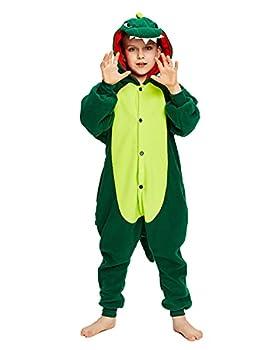 NEWCOSPLAY Halloween Unisex Child Animal One-Piece Pajamas Christmas Costume  Dinosaur 8 Years