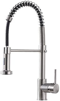 OWOFAN Kitchen Faucet with Pull Down Sprayer Low Lead Single Handle Spring Kitchen Sink Faucet product image