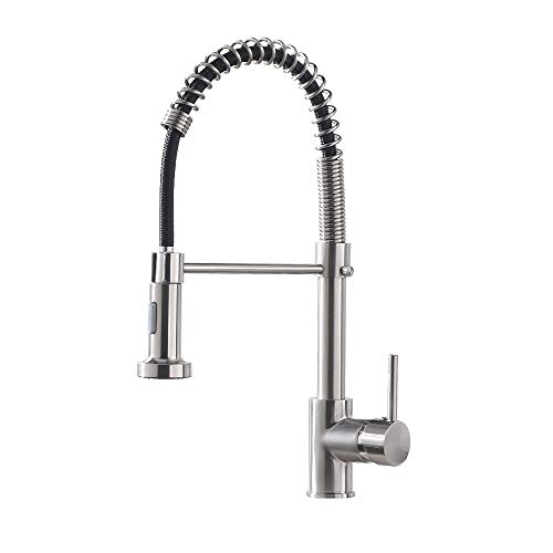OWOFAN Brushed Nickel Kitchen Faucet