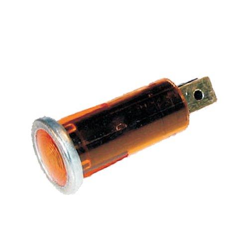 Kontrolleuchte, Kontrolllampe, Warnlampe 12V orange mit Chromrand