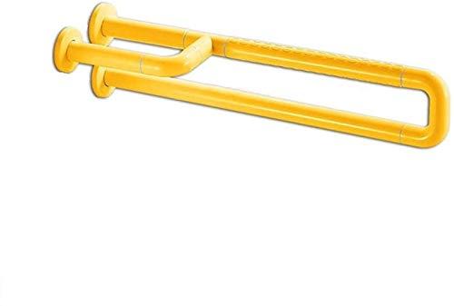 GAOLILI Barras de sujeción Baño Bañera barandillas de Seguridad, Alta Estabilidad Seguridad Barra de sujeción, baño Antideslizante Fijo sin barreras Lever, WC Booster (Color : Yellow)