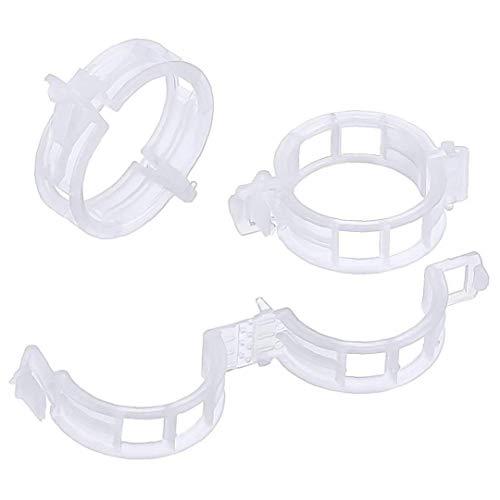 Yoyakie Crecimiento Vegetal Clip Clip Hanger Injerto Clip Plástico Atadas Vine Clip Hebilla Rota Cordeles Clips Blancos 100 Pc