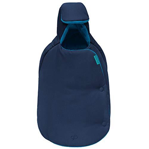 Goodbaby Fußsäckchen für GB und Cybex Babyschale, Tragetasche und Tragewanne, Winter Fußsack Universal-Fußsack Fleece, Mumienform, Navy-blue