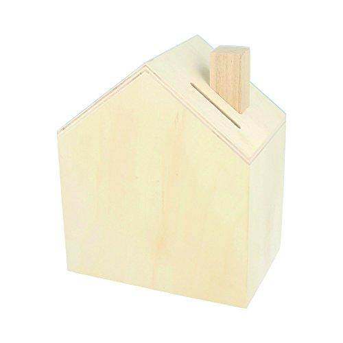 Artemio 14002221Spardose zum Dekorieren Haus Holz 12x 14,5x 8cm