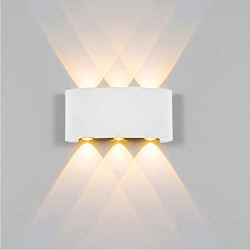 XHSHLID 1 stks Wandlampen Home Corridor Led Aluminium Wandlamp Dubbele Hoofd Up En Down Licht Zwart/Wit Gebogen Nachtwandlamp